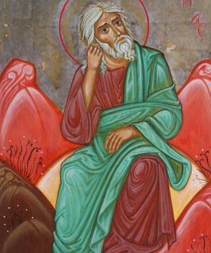Elia in preghiera sul monte Oreb